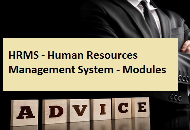 HRMS - Human Resources Management System - Modules