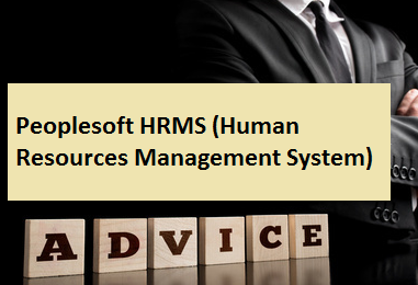 Peoplesoft HRMS (Human Resources Management System)