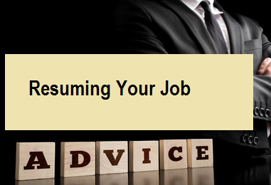 Resuming Your Job